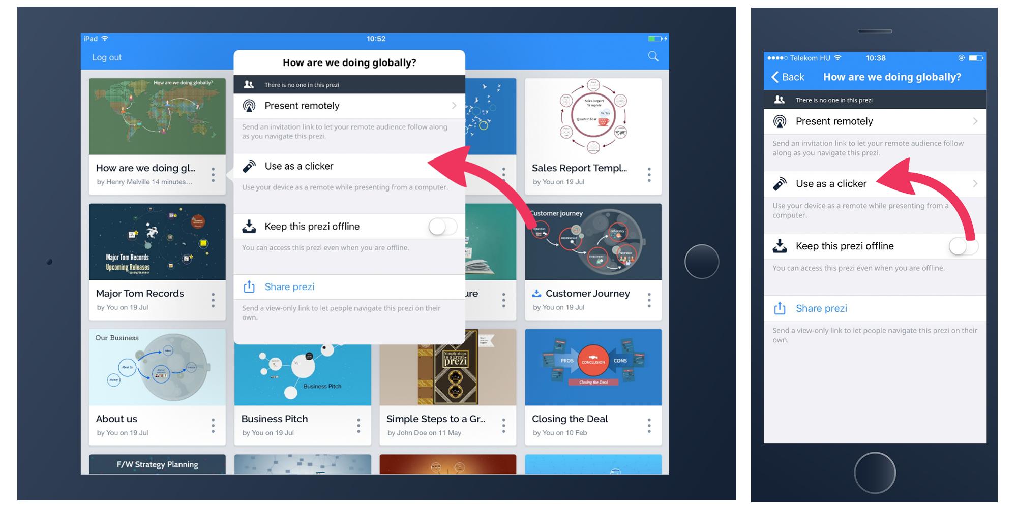 how to download prezi presentation