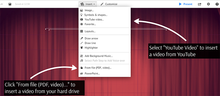 Inserting video files also from youtube prezi classic support inserting a video ccuart Gallery
