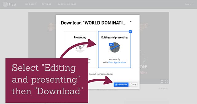 Choose Editing And Presenting And Click Download Youll See The File Being Downloaded