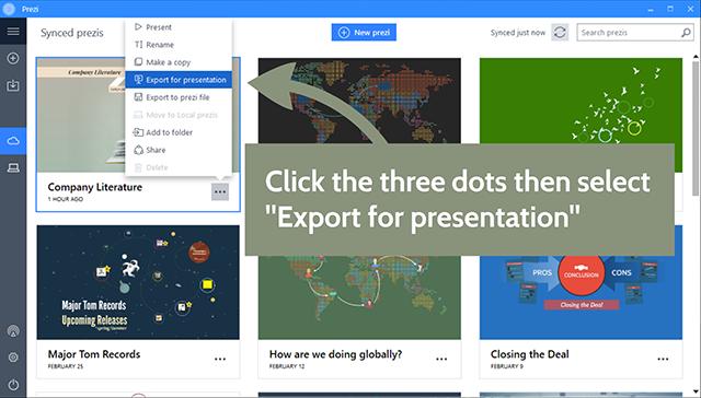 Downloading your Presentation (Portable Prezi) in Prezi Classic ...